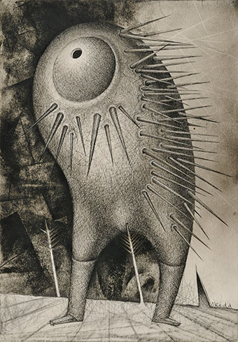 Porcupine: from the series Document of Birds and Beast