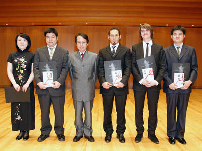 M.Fang, S.Ueda, A.Nishimura, A.Portera, J.Valfridsson, Y.Wu photo © Tokyo Opera City Cultural Foundation